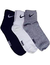 NIKE Unisex Cotton Ankle Socks - Multi Colors Pack Of 3-By 7th feet