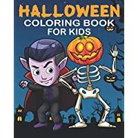 Halloween Coloring Book For Kids: 25 One Sided Pages Safe Of Markers