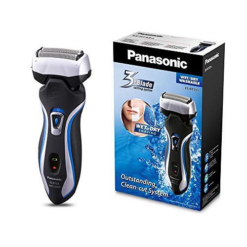 Panasonic Nass/Trocken-Rasierer ES-RT33-S503  mit 3 Scherelementen, 10.000 Schwingungen/Min., silber/schwarz (Nass-trocken Panasonic Rasierer)