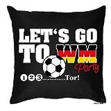 bedrucktes Fussball Fun Fan Sofa Kissen: Party - Geschenk Fußball Dekokissen Couchkissen Sofakissen Geburtstag Ostern Couch