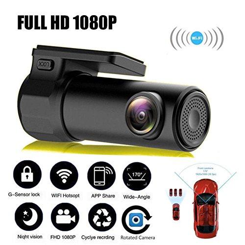 Zhuotop Mini-WLAN-Dashcam, mit Bewegungserkennung, Full-HD, versteckte Kamera, mit digitalem Videorekorder