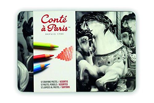 Conté à Paris 500015 Assortiment de 12 Crayons Pastels