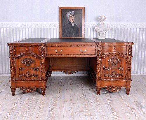 Englischer Chefschreibtisch Mahagoni XXL Schreibtisch Büromöbel Antik Palazzo Exclusiv -