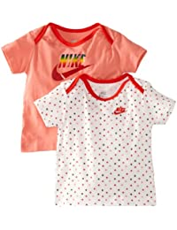 Nike Infants T-Shirt Gift Pack for 3 - 6 Months (Pink/ White)