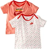 Nike Unisex Baby Infants T-Shirt Gift Pack 12 - 18 Months Pink/ White