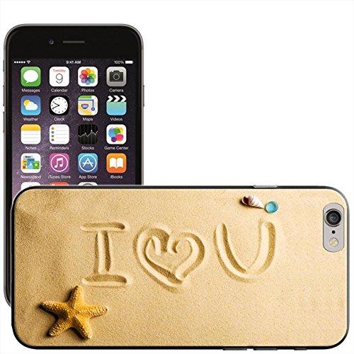 Musique Coque arrière rigide détachable pour Apple iPhone modèles, plastique, Daisy Chain Heart, iPhone 5C I Love You In Sand At Beach