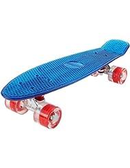 FunTomia Mini Board monopatín Skateboard 57cm - Con o sin LED Ruedas - Wheel 59mmx45mm (82A) - Rodamiento ABEC-11