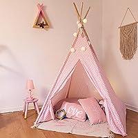 Tipi decorativo para niños, de 160 cm de alto, color rosa.