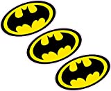 3x Batman Logo 80mmx46mm Wappen Vinyl Aufkleber Wand Auto Laptop Superheld Comic Book