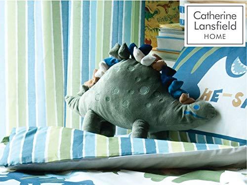 Catherine Lansfield Kids Kissen in Form eines Dinosauriers, Mehrfarbig (Dinosaurier-kinderzimmer Bettwäsche)