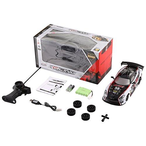 HermosaUKnight 1/16 27 MHz ferngesteuertes Auto treibt auf der Straße Racing RTR Rc Fahrzeug weißes Spielzeug -