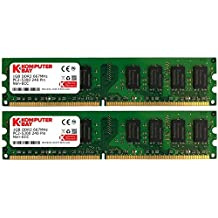Komputerbay - Memoria DIMM (240 PIN) para PC, 2GB (2 x 1GB), DDR2 667MHz, PC2-5300, PC2-5400, CL 5