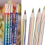 Starworld 10Rainbow Farbe Bleistift, 4in 1Bunte Zeichnung Malerei Bleistifte