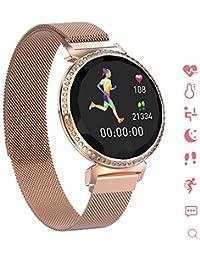 INTELLIGENT Orologio Bluetooth Bracciale Sportivo da Donna, Android/iOS Braccialetto Impermeabile Contapassi Sportivo Tracker di attività, Frequenza cardiaca Monitoraggio della Salut