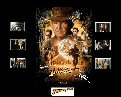 Indiana Jones And The Kingdom Of The Crystal Skull Film Cell Presentation : Movie Poster 2 Picture
