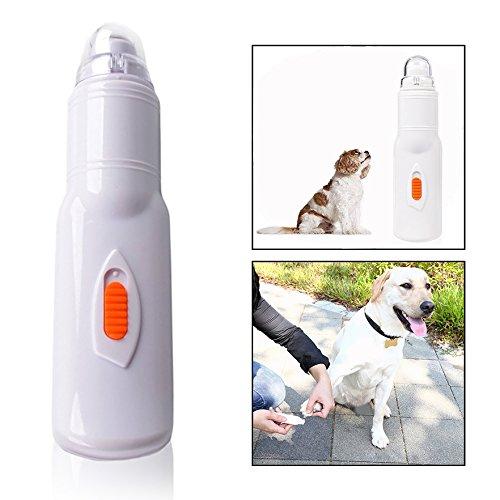 OFKPO Lima de Uñas Eléctrica (Amoladora de Uñas), Apta para Perros, Gatos, Super Silencioso, Baterías no Incluidas, Color Blanco