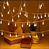 Uping 100 LED Globe Fairy Lights   33FT Decoration String Lights with 8 Modes   Twinkle Lights Suitable for Indoor Outdoor   warm white