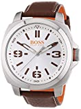 BOSS Orange Herren-Armbanduhr XL Brisbane Analog Quarz Edelstahl 1513097