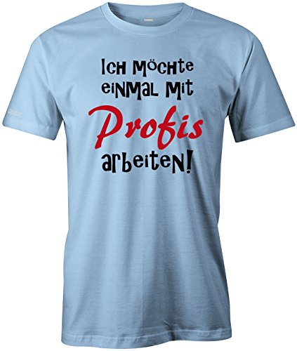 it Profis arbeiten - Herren T-Shirt in Hellblau by Jayess Gr. XXXL (Bau-geburtstag)