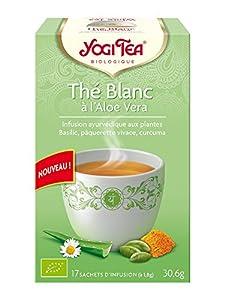 Yogi tea Thé Blanc à l'Aloe Vera Bio 17 Sachets 36,6 g