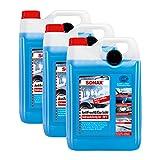 SONAX 3X 03325000 AntiFrost&KlarSicht gebrauchsfertig bis -20°C Frostschutz 5L