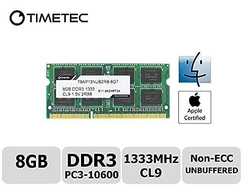 Timetec® Team 8GB DDR3 (PC3-10600) 1333MHz Nicht-ECC, ungepuffert, CL9, 2Rx8,