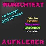 Beschriftung Autoaufkleber Klebebuchstaben selbst gestalten mit Vorschau - Preis lt. Konfigurator!