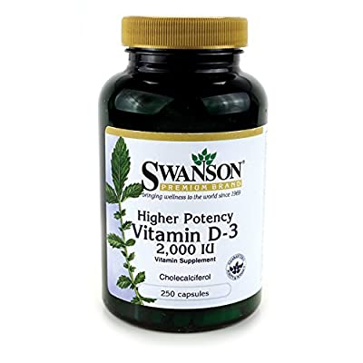 Swanson Vitamin D3 2,000IU, 250 Capsules by Swanson Health Products