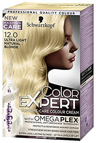 Schwarzkopf Color Expert Omegaplex Hair Dye, 12-0 Ultra Light Natural