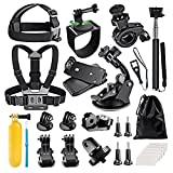 Followsun 17-In-1 Sports Action Camera Accessories Kit for GoPro Hero Session/5 Hero 1 2 3 3+ 4 5 SJ4000 SJ7000 DBPOWER AKASO VicTsing APEMAN WiMiUS Rollei QUMOX Lightdow Campark And Sony Sports DV