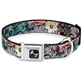 Buckle Down Blumen mit filigranen Hundehalsband Pink Bone, medium/27,9–43,2 cm
