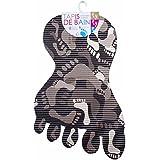 Promobo -Tapis De Bain Antidérapant Décor Tendance Design Empreintes Pieds Noir