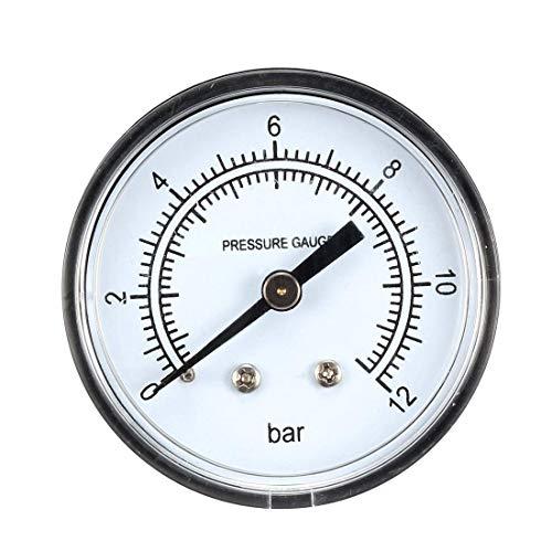 ZCHXD Pressure Gauge, 0-12 Bar Dual Scale, 2