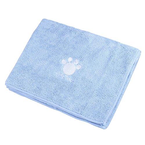 ueetek Pet asciugamano da bagno, lavabile a secco asciugamano con zampe modello per Cani Gatti