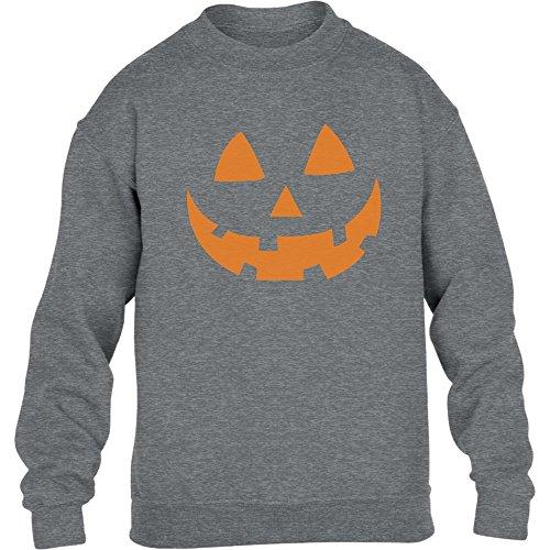 bis Gesicht Halloween Kinder Pullover Sweatshirt X-Large Grau (Beste Teenager-mädchen Halloween-kostüm Ideen)