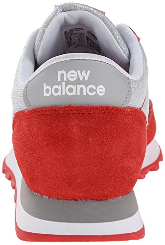 New Balance Womens Classics Traditionnels Mesh Trainers Gris Rouge