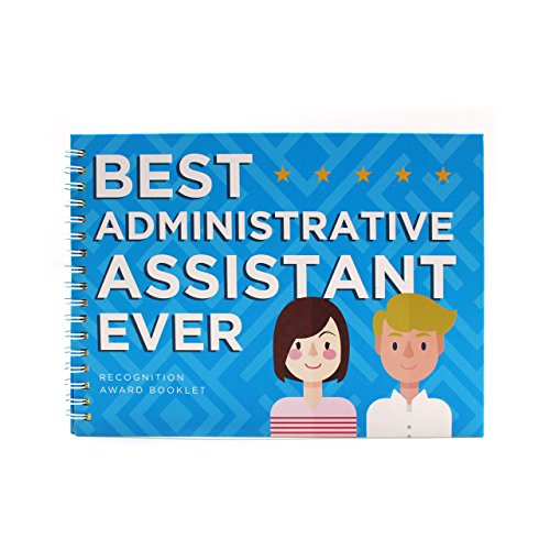 Employee & Coworker Appreciation Gift - Best Administrative Assistant Ever Recognition Award Booklet - Cool Gift Ideas For Coworkers in the Office - Personalized Present for Company Friends (Best Costume Award)