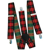 Bristol Novelty BA598 Tartan Punk Braces, One Size