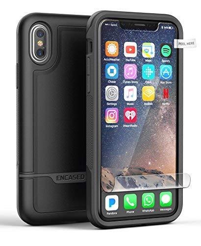 Encased iPhone X-Edition Hart Case W/Displayschutzfolie, [Serie auf Armor Schutzhülle für Apple iPhone, mit militärtauglichem Schutz] ... Otterbox Armor Serie