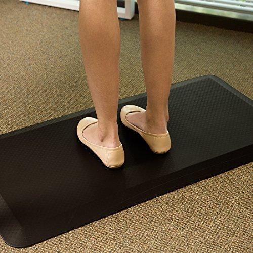 Flexispot MT1B Antimüdigkeits Komfortmatte Steh-Bodenmatte ergonomische Matte für Arbeitsplätze,Stehschreibtische, Küchen, Bad Anti-Ermüdungsschicht 100cm x 51cm x2cm