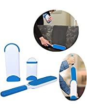 Techsun Mart Reusable Washable Pet Fur Lint Brush Hair Remover for Removing Dog Cat Hair from Clothing, Sofa (Blue and White)