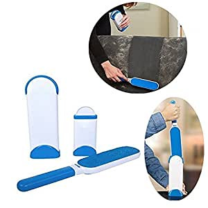 Techsun Reusable Washable Pet Fur Lint Brush Clothes Fluff Fur Hair Remover Dog Cat Hair Remover Brush from Clothing and Sofa