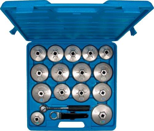 "Ölfilterkappen-Satz aus Aluminium-Druckguss, 17-tlg. 64-101 mm mit 1/2""- Umschaltknarre"