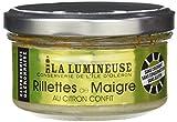 La Lumineuse Rillettes de Maigre au Citron Confit 120 g - Lot de 8