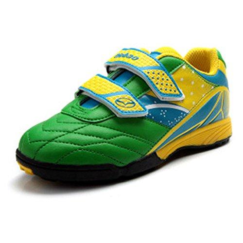 Sportliche Leder-heels (Generic Jungen Leicht Rutschfest Draussen Grün Leder Sportlich Schuhe 23320 EU31)