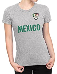De Las Mujeres Mexico Country Name and Badge Camiseta Fútbol Copa del mundo2018 Señoras Sports