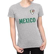 De Las Mujeres Mexico Country Name and Badge Camiseta Fútbol Copa del mundo2018 Señoras Sports