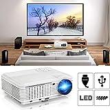 CAIWEI Projecteur Mini Vidéoprojecteur 4500 Lumens Rétroprojecteur Supportant Full HD 1080P Multimédia pour Home Cinéma LED 50000 Heures HDMI/VGA/AV/TF/USB Compatible avec TV Box/Chromecast