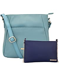 Lapis O Lupo Combo Teal Women Sling Bag And Sling Bag (Light Tourquise,Blue)