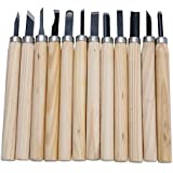 KABEER ART Wood Carving Tool Set of 12pcs for Professionals, Carpenters and Hobbyists